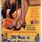all neat in black stockings australian one sheet poster 1969