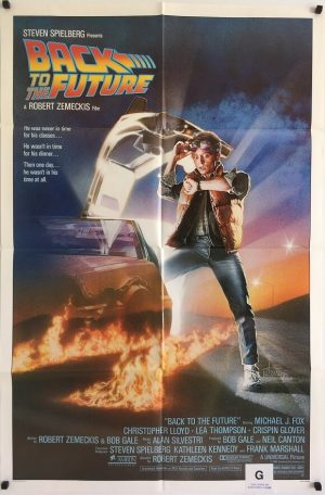 back to the future US one sheet poster michael j fox 1985