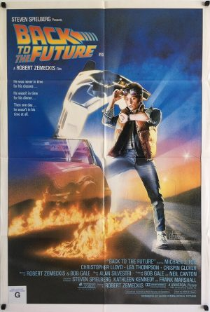 back to the future australian one sheet poster michael j fox 1985