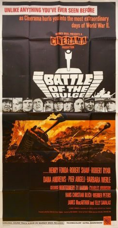 battle of the bulge 3 sheet movie poster 1966