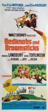 bedknobs and broomsticks australian daybill poster 1971 angela lansbury