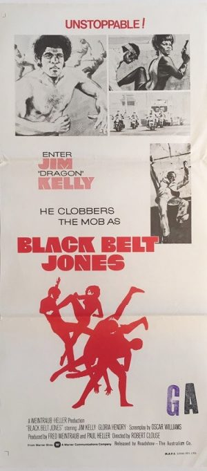 black belt jones australian daybill poster 1 1974