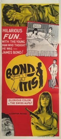 bonditis australian daybill poster 1968 james bond spoof 007