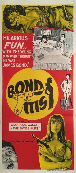 bonditis australian daybill poster 1968 james bond spoof 007