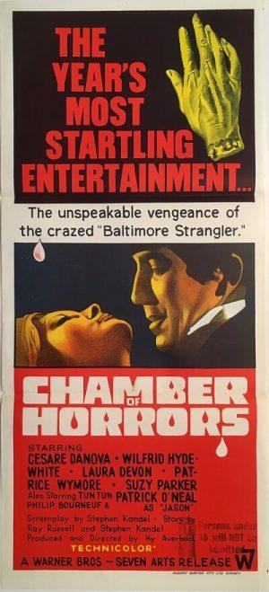 chamber of horrors australian daybill poster 1966 baltimore strangler