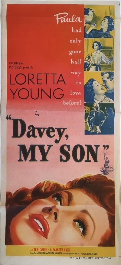 davey my son australian daybill poster