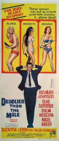 deadlier than the male australian daybill poster 1967 richard johnson elke sommer suzanna leigh