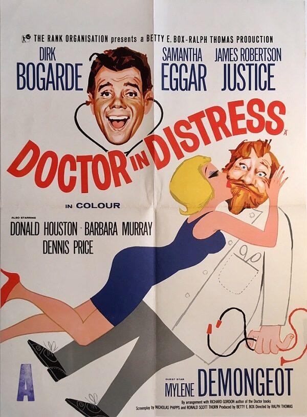 doctor in distress uk half crown poster 1963