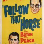 follow that horse australian daybill poster 1960