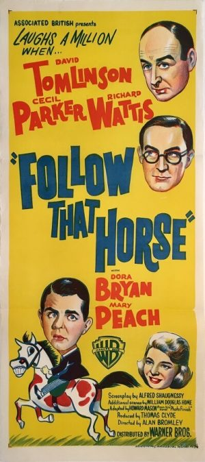 follow that horse australian daybill poster 1960