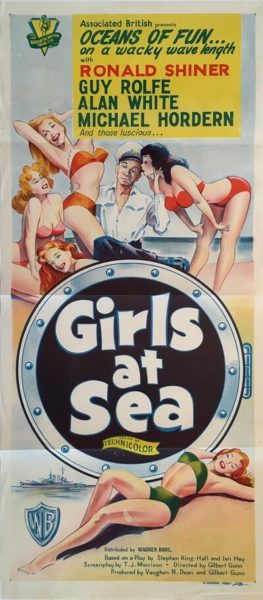 girls at sea australian daybil poster 1958