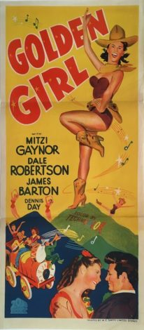 golden girl australian daybill poster 1951