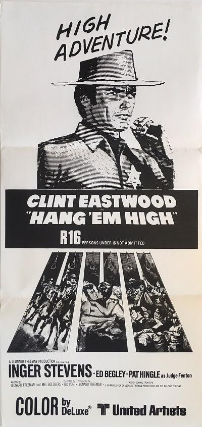 hang em high nz daybill poster 1968 clint eastwood