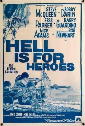hell is for heroes australian one sheet poster steve mcqueen 1962