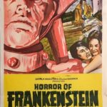 horror of frankenstein australian daybill poster 1970