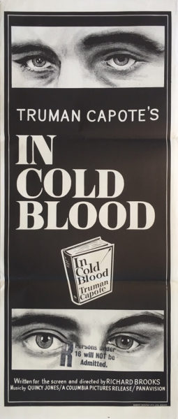 in cold blood australian daybill poster truman capote 1968