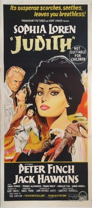 judith austrlian daybill poster sophia loren 1966