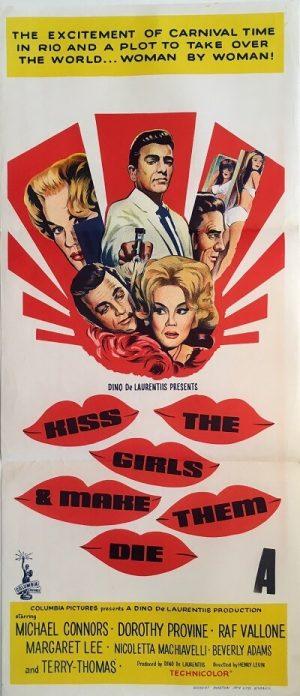 kiss the girls and make them die australian daybill poster 1966