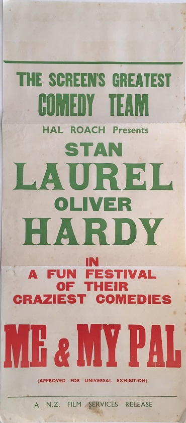 laurel and hardy me and my pal nz daybill poster 1933