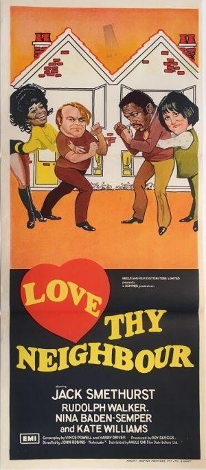 love thy neighbour australian daybill poster 1973 hammer horror productions