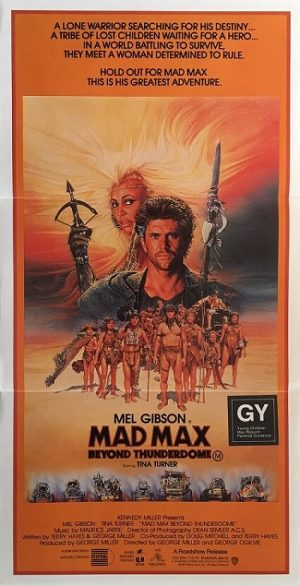 mad max beyond thunderdome australian daybill poster 1985