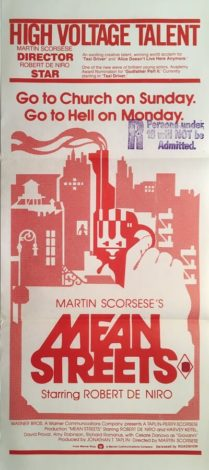 mean streets australian daybill poster 1973 martin scorsese with robert de nero and harvey keitel