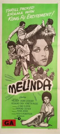 melinda australian daybill poster 1972 blaxploitation kung fu