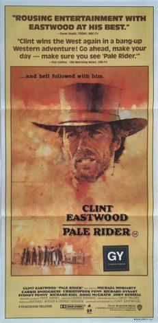 pale rider australian daybill poster clint eastwood 1985