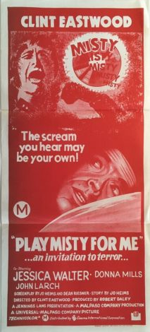 play misty for me australian daybill poster 1971