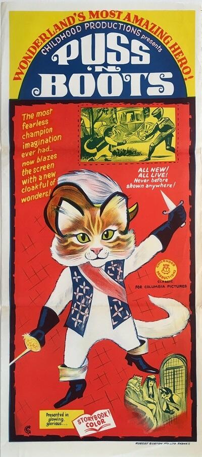 puss in boots australian daybill poster