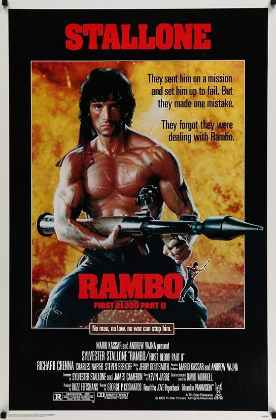rambo first blood part 2 one sheet poster 1985
