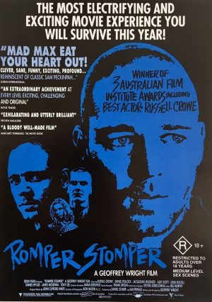 romper stomper card front face 1993 russell crowe