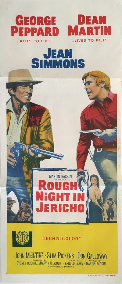 rough night in jericho australian daybill poster 1967