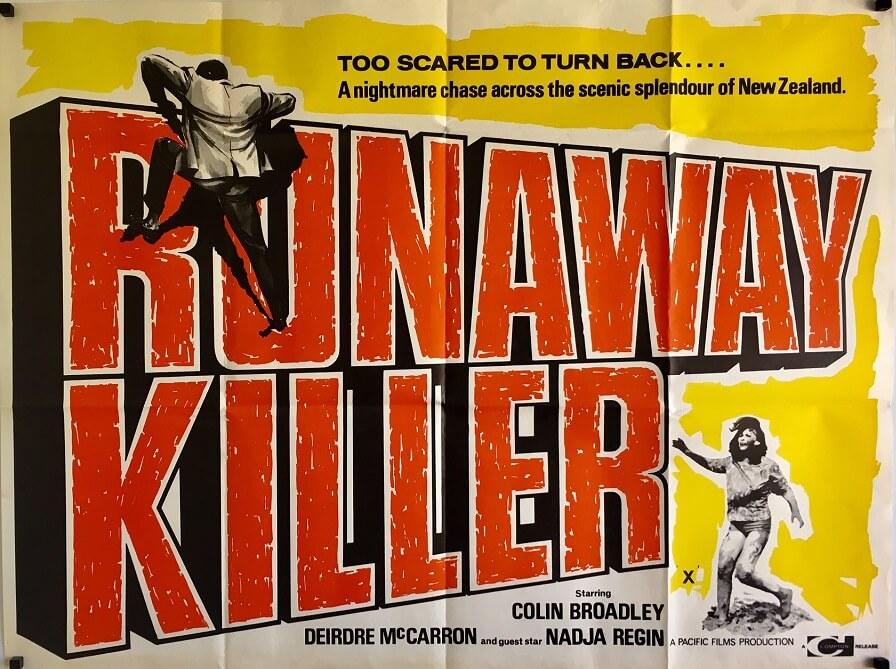 runaway killer UK quad poster NZ runaway 1964