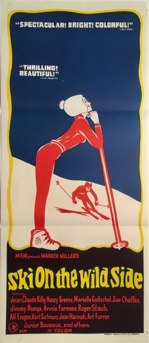 ki on the wild side australian daybill poster 1967 skiing
