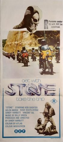 stone australian daybill poster 1974 biker gang movie