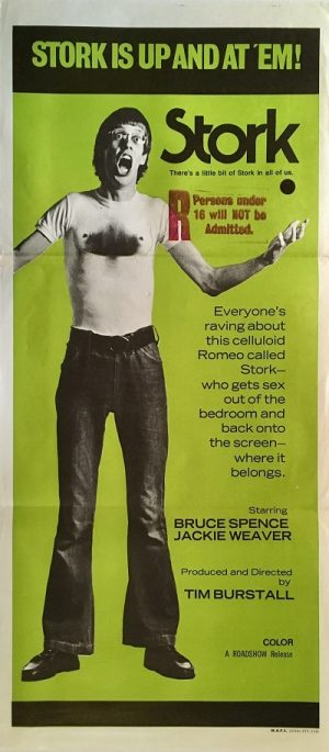 stork australian daybill poster 1971 bruce spence