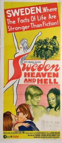 sweden heaven and hell australian NZ daybill poster 1968