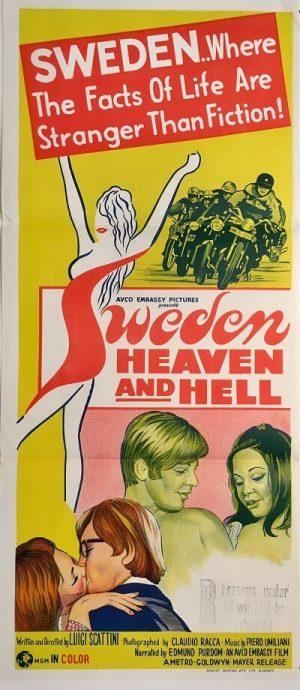 sweden heaven and hell australian NZ daybill poster 1968