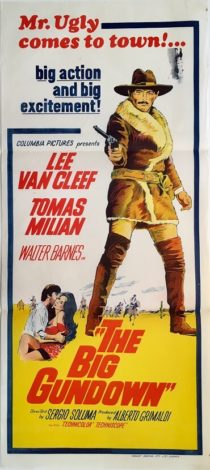 the big gundown australian daybill poster lee van cleef 1953