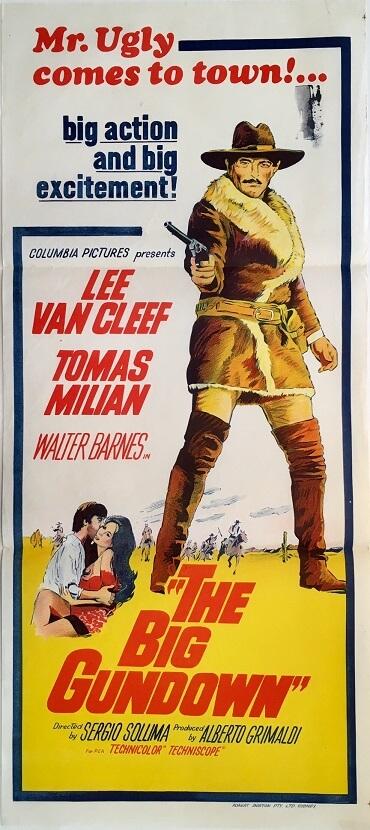 the big gundown australian daybill poster lee van cleef 1953