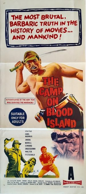 the camp on blood island australian daybill poster 1958