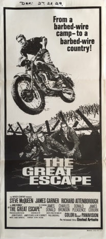 the great escape australian daybill poster 70s