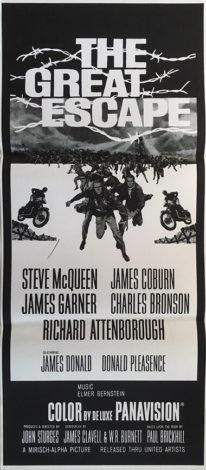 the great escape australian daybill poster 1980 re-release