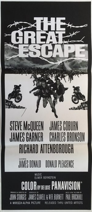 the great escape australian daybill poster 1980 re-release