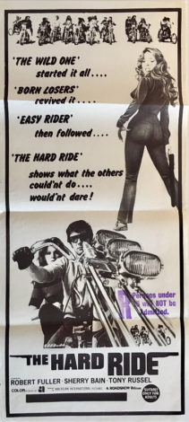 the hard ride australian daybill poster 1975