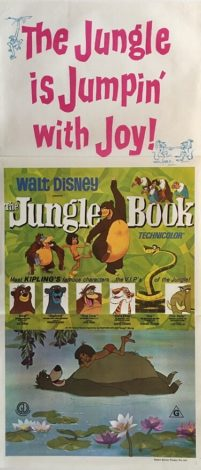 the jungle book australian daybill poster 1982 rerelease