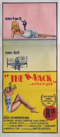 the knack and how to get it australian daybill poster 1965
