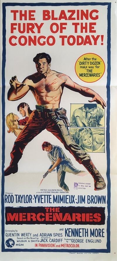 the mercenaries australian daybill poster 1968