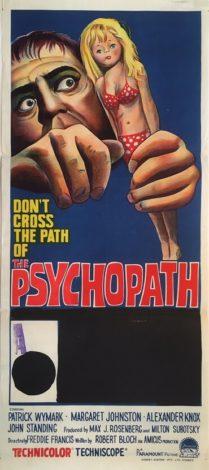 the psychopath australian daybill poster 1966